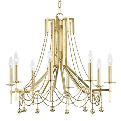 Hudson Valley 8 Light Chandelier Aged Brass Zariah 5228-AGB-CE
