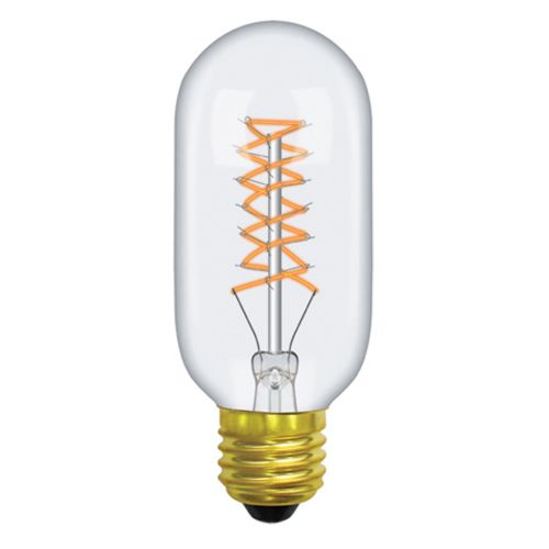 Tubular/T E27 2000K Extra Warm White 60W (100/10) Clear Dimmable