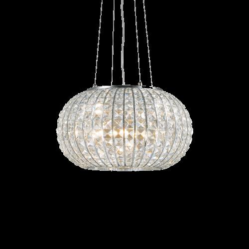 Ideal Lux Calypso Chandelier 3 Light Chrome IDE/044194