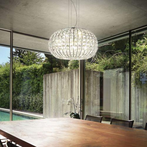 Ideal Lux Calypso Chandelier 5 Light Chrome IDE/044200