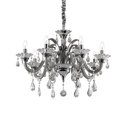 Ideal Lux Colossal 081519 Ceiling Chandelier 8 Light Grey