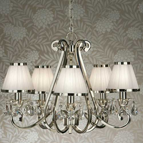 Interiors 1900 Oksana 5-Light Chandelier White 63515