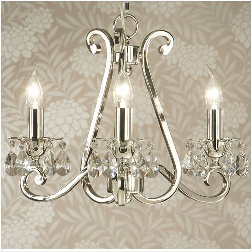 Interiors 1900 Oksana 3-Light Polished Nickel Chandelier UL1P3N