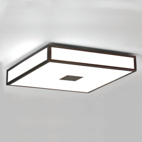 Astro Mashiko 400 Square Bathroom Ceiling Light in Bronze 1121013