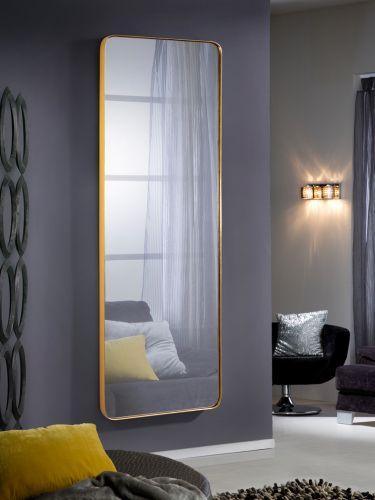 Orio Rectangular Large Mirror Gold Leaf Frame