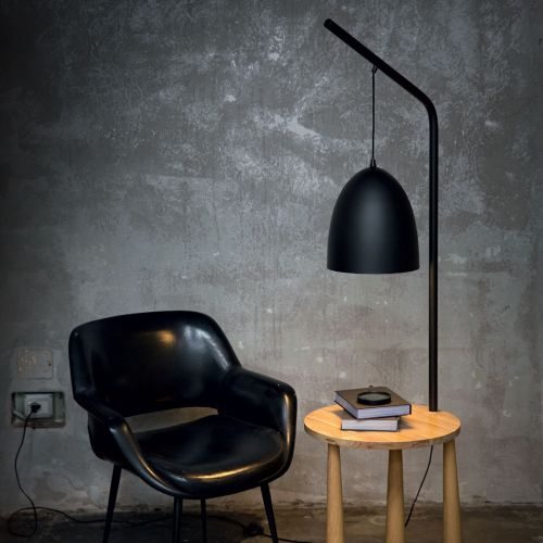 Ideal Lux Piano 145365 1 Light Floor Lamp Black Frame