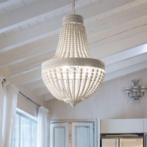 Ideal Lux 162737 Monet 5 Light Chandelier White Frame