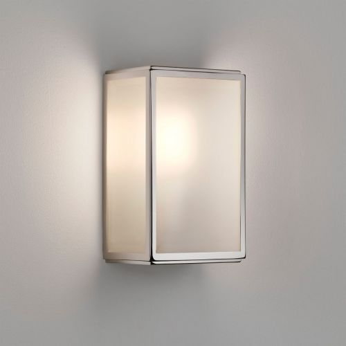 Astro Homefield Sensor Outdoor Wall Light in Polished Nickel 1095016