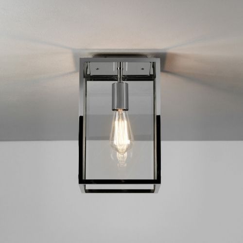 Astro Homefield Ceiling 1095022 Outdoor Ceiling Flush 1 Light Polished Nickel