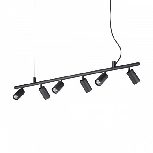 Ideal Lux Dynamite Spotlight Bar 6 Light Black IDE/231396
