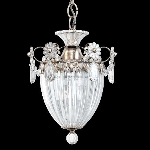 Schonbek 1241EH-48 Bagatelle Heritage Crystal 1 Light Pendant Antique Silver Frame