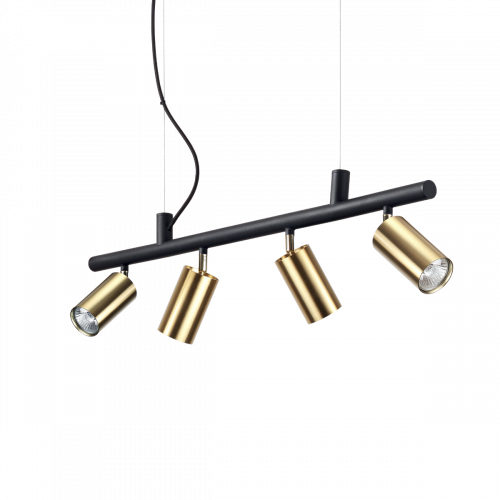 Ideal Lux Dynamite Spotlight Bar 4 Light Satin Brass IDE/244624