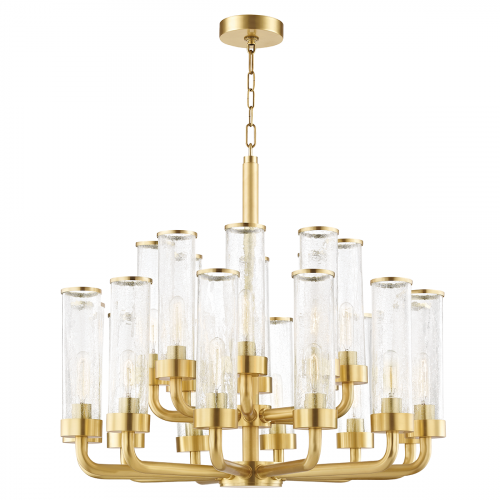 Large Ceiling Pendant 20 Light Aged Brass Hudson Valley Soriano 1732-AGB-CE