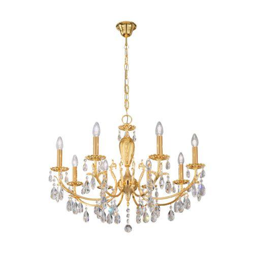 Kolarz 3003.88.3.Kot Victoria II Crystal 8 Light Chandelier Gold Frame