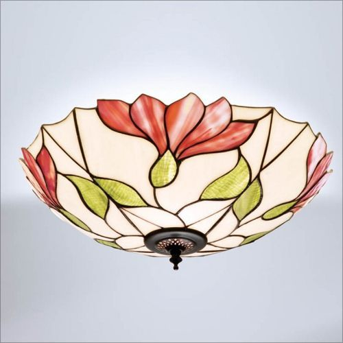Interiors 1900 Botanica Tiffany Flush Fitting 63960