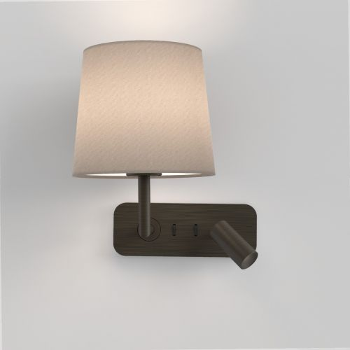 Astro 1406004 Side By Side LED Double Wall Light Bronze Frame