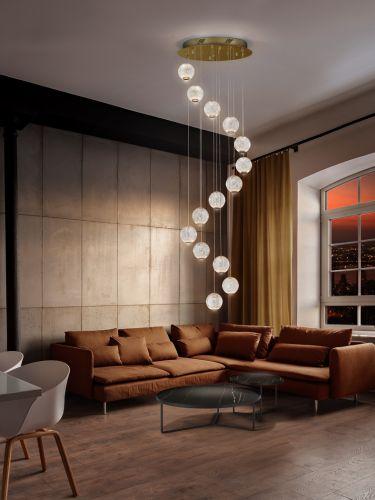 Schuller Austral 354318 14 Light LED Ceiling Pendant Gold
