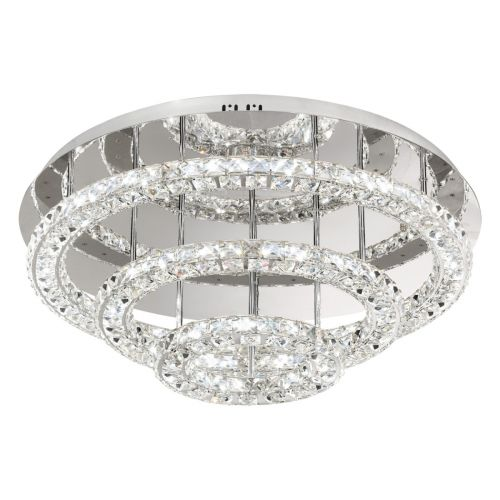 Eglo Ceiling Light LED Chrome/Crystal Toneria 39002