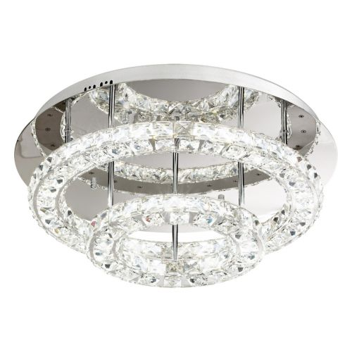 Eglo Ceiling Light LED Chrome/Crystal Toneria 39003