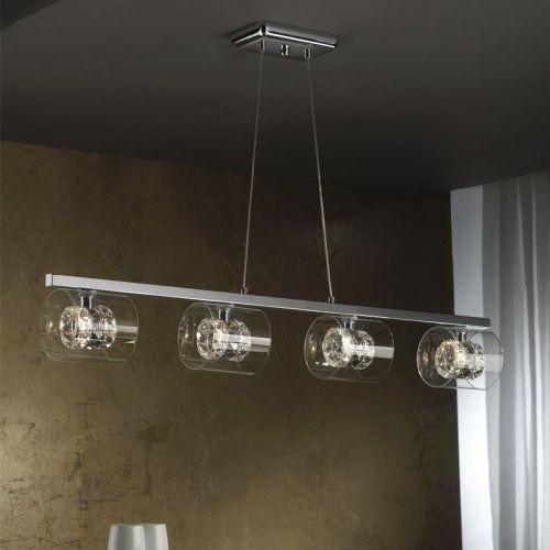 Schuller Flash 391653 Bar Ceiling Pendant 4 Light Chrome