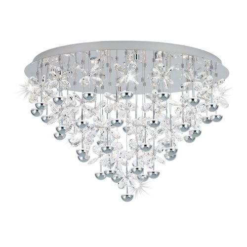 Eglo Ceiling Light 43 Light Chrome/Crystal Pianopoli 39246