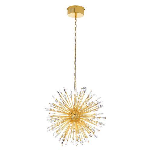 Eglo Ceiling Light G4 Pendant Gold-Plated/Crystal Vivaldo 1 39255