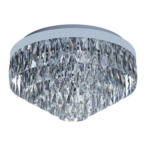 Eglo Ceiling Light 8 Light E14 Chrome/Crystals Valparaiso 1 39489