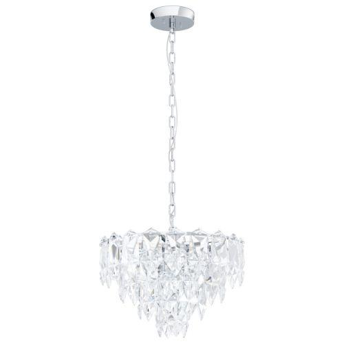 Eglo Pendant 7 Light E14 Chrome/Clear Carvario 39723