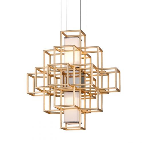 Ceiling Pendant LED Gold Leaf Corbett Metropolis 242-41-CE