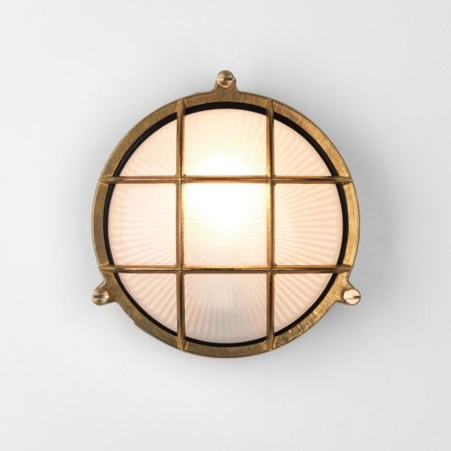 Astro Thurso Round Coastal Wall Light in Coastal Natural Brass 1376001