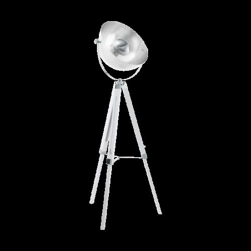 Eglo 49877 Covaleda Single Light Floor Lamp White Frame