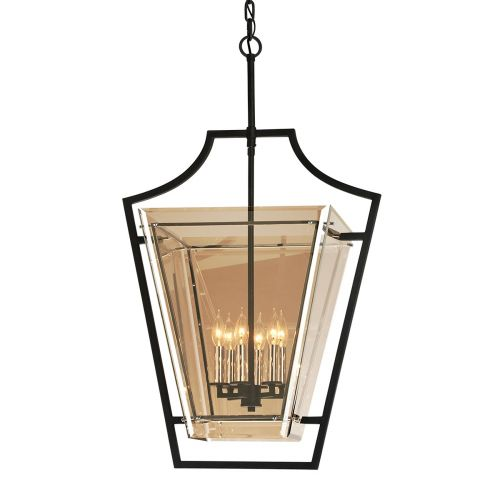 Troy Domain 6 Light Pendant Medium Forged Iron Troy F5596-CE