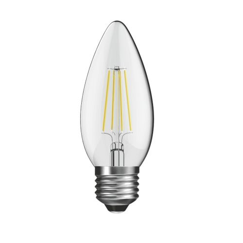 Candle LED Lamp 4W ES / E27 Cap Non-Dimmable Warm White