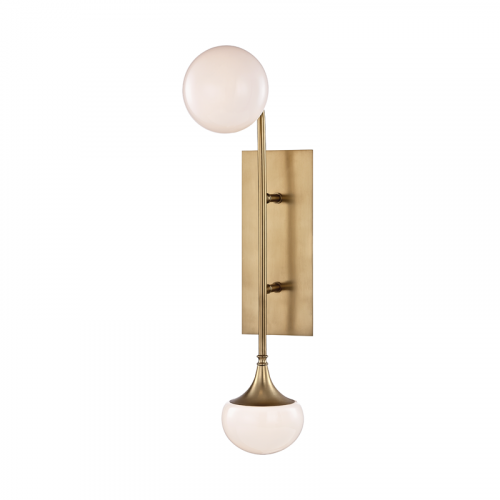 Wall Light Aged Brass Hudson Valley Fleming 4700-AGB-CE