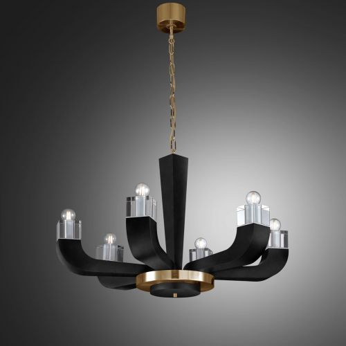 Kolarz Riviera 6 Light Chandelier Black 5202.80630