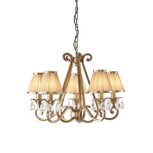 Interiors 1900 Oksana 5-Light Chandelier Beige Shade 63522