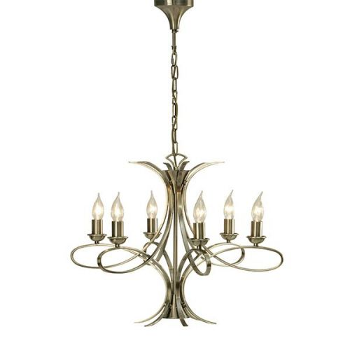 Interiors 1900 CA7P6BB Penn 6Lt Antique Brass Ceiling Pendant
