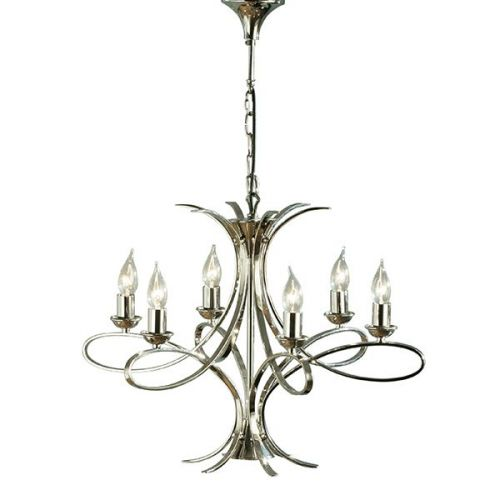 Interiors 1900 CA7P6N Penn 6Lt Polished Nickel Ceiling Pendant