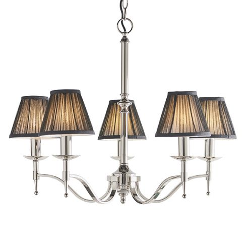Interiors 1900 Stanford 5 Light Chandelier Nickel 63637