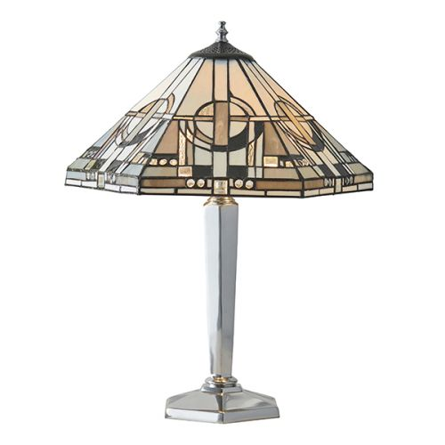 Interiors 1900 Metropolitan 64260 Tiffany Medium Sized Table Lamp