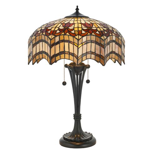 Interiors 1900 Vesta 64377 Tiffany Medium Sized Table Lamp