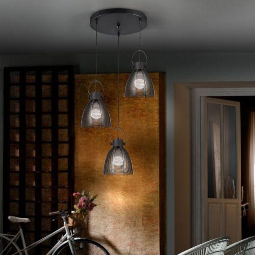 Schuller Tabatha 650319 Ceiling Pendant 3 Light Black