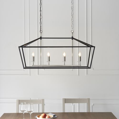 Linear Ceiling Bar Pendant 4 Light Matt Black Sofia REG/505011