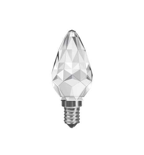 Crystal Candle LED Lamp 3W SES / E14 Cap Non-Dimmable Warm White