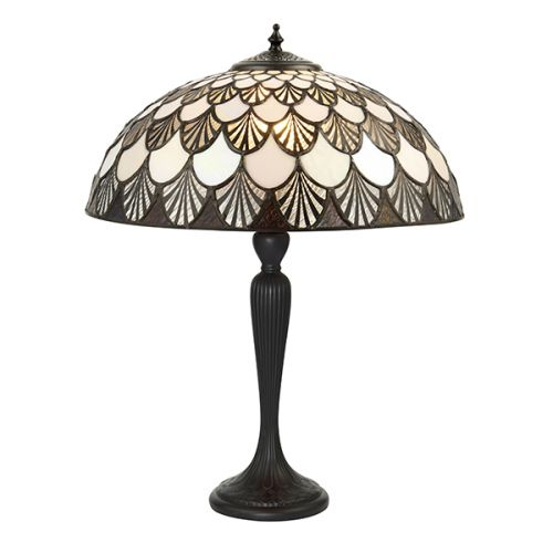 Interiors 1900 Missori 71091 Tiffany Medium Sized Table Lamp