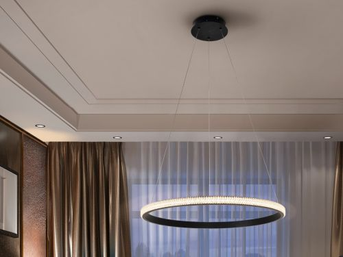 Schuller Ring 717526 LED Ceiling Pendant Sanded Matt Black