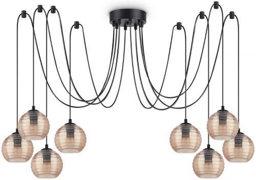 Ideal Lux Riga Chandelier 8 Light Amber IDE/241173