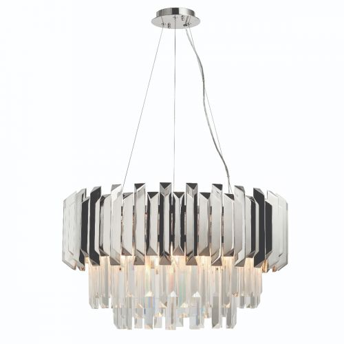Endon Valetta 76430 6 Light Ceiling Pendant Polished Nickel