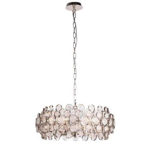 Endon Marella 76508 6 Light Ceiling Pendant Bright Nickel