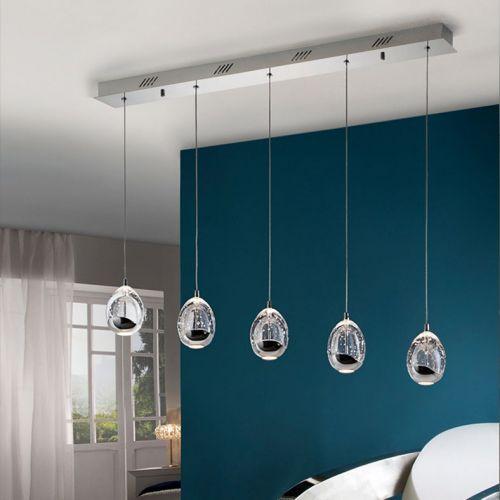 Schuller Rocio 783618 LED Bar Ceiling Pendant 5 Light Chrome